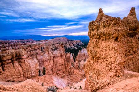 ユタ州のブライスキャニオンの風光明媚なビュー 写真素材