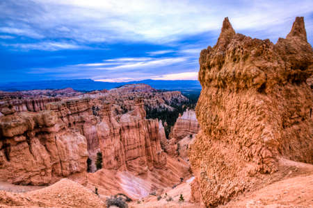 bryce canyon: scenic view of bryce canyon in utah Stock Photo