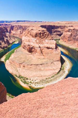 colorado river: horseshoe bend in the colorado river