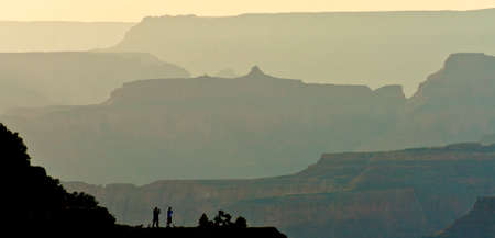 juxtaposition: scenic view of the grand canyon area in arizona Stock Photo
