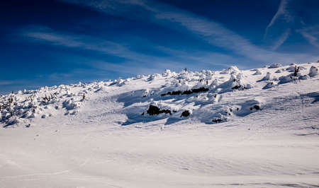 snow covered mountain: snow covered mountain terrain