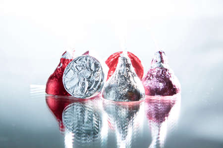 foil: foil wrapped chocolate candies