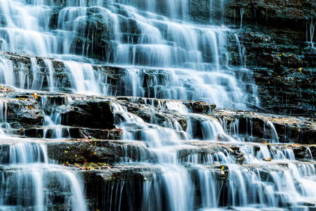 closeup of waterfalls