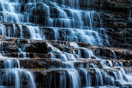 waterfalls closeup view Stock Photo