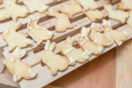 homestyle: Bunny Rabbit Cookies Homestyle Baking Stock Photo