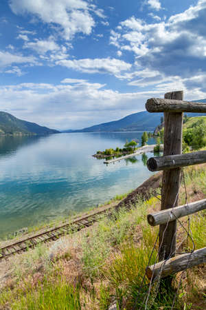 fenceline: kalamalka lake in BC Canada