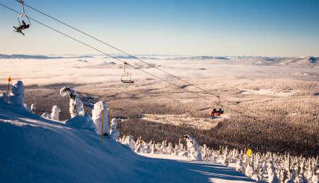 ski resort landscape view
