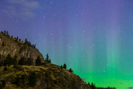 northern lights in the mountains
