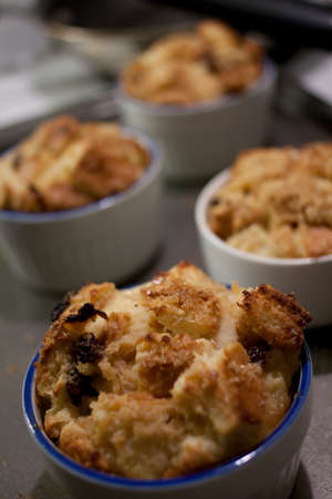 bread pudding closeup
