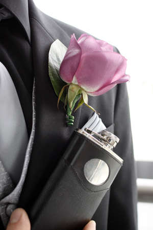 grooms details on a wedding day Stock Photo