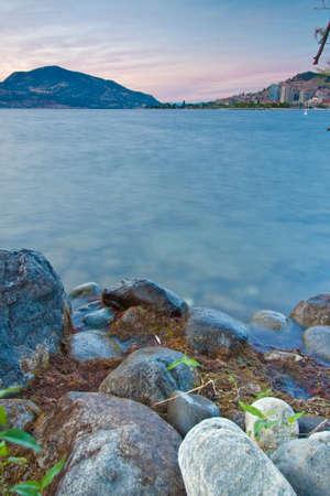 scenic view of lake okanagan in BC Canada 免版税图像