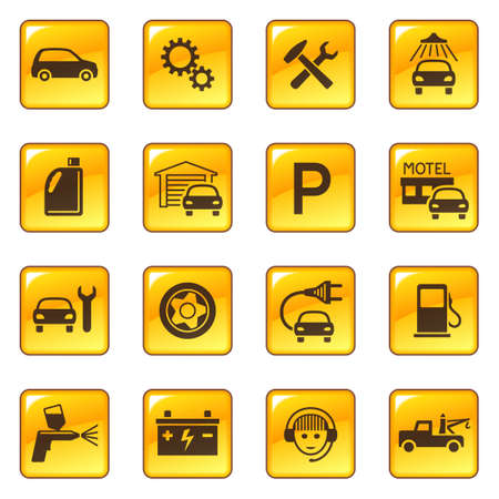 fix gear: Car service & repair icons