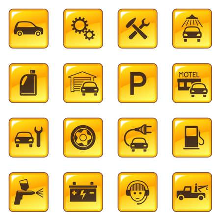 Car service & repair icons