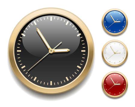 Clock icons Vettoriali