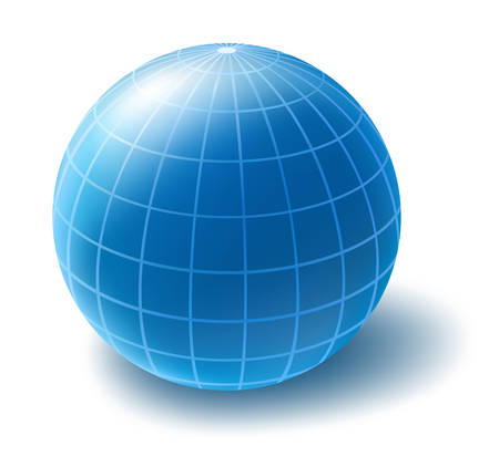 Blue globe Illustration