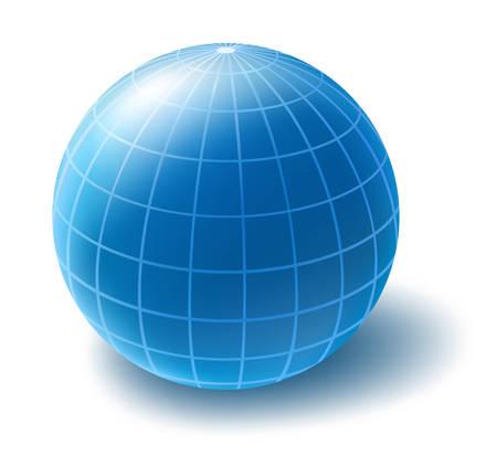 Blue globe Vettoriali