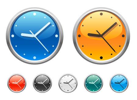 Clock icons 2 Vettoriali