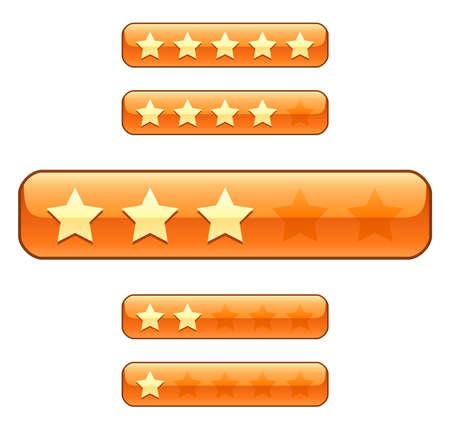 classement: Barres de cotation avec des �toiles