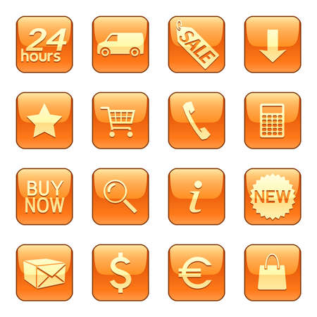 Sale & delivery icons Vector