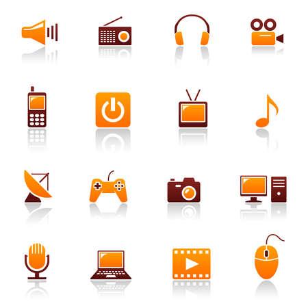 mobile headset: Iconos de media & telecomunicaciones