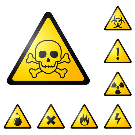 biohazard symbol: Warning signs