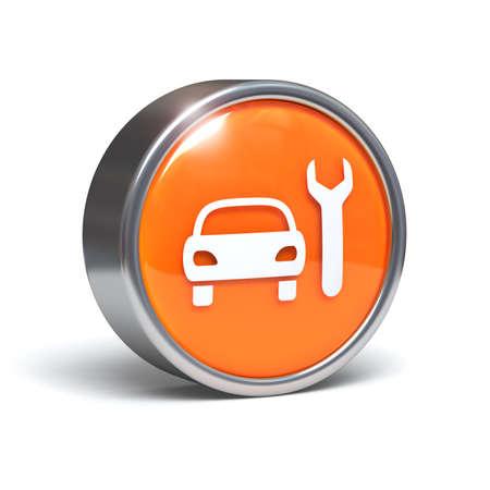 Car service - 3D button Stock Photo - 7760903