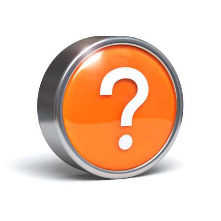 internet mark: Question - 3D button