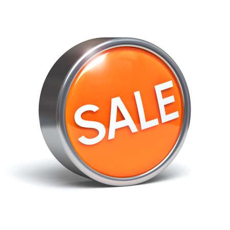 Sale - 3D button Stock Photo