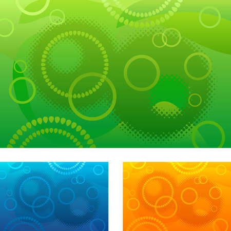 color ring: Abstract background with circles
