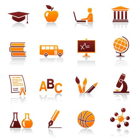 iconos educacion: Iconos de educaci�n