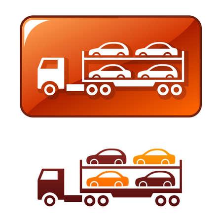 transporteur: Camion fournit les voitures Illustration