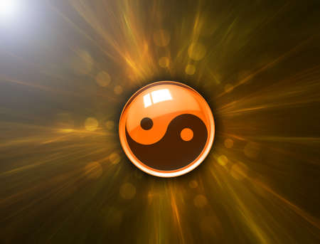 ying yan: Yin Yang symbol on abstract background