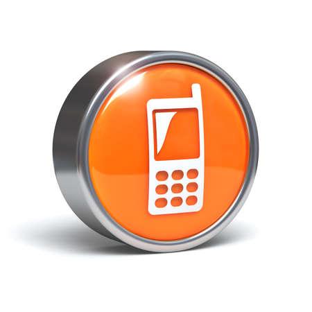 telecoms: Cellphone - pulsante 3D