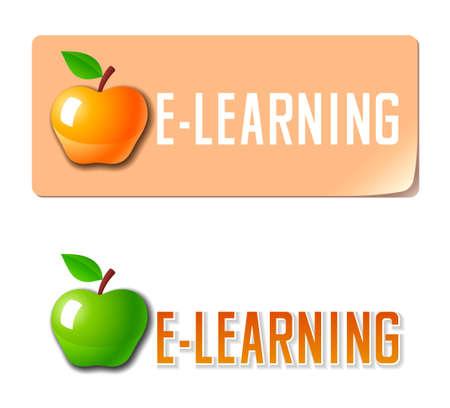 E-learning icon Illustration