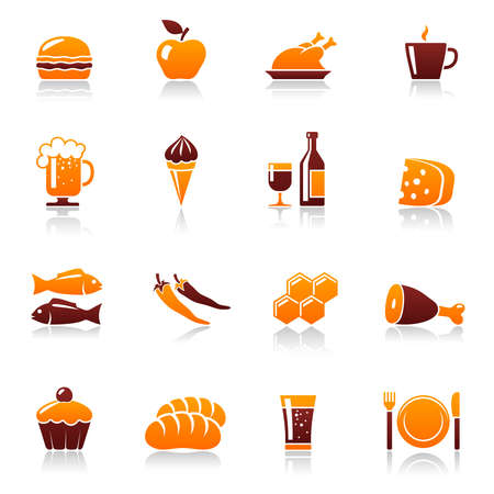 Food and drink icons Vettoriali