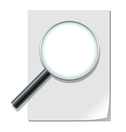 Magnifier and paper sheet