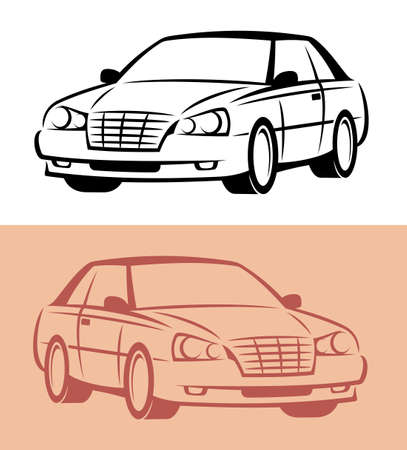 outline drawing: Styled car icon