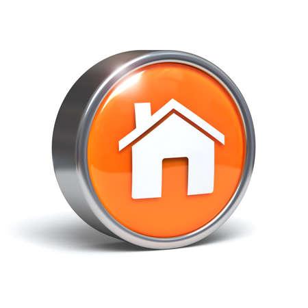 Home - 3D button Stock Photo - 9341805