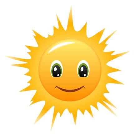 cartoon sun: Smiling Sun
