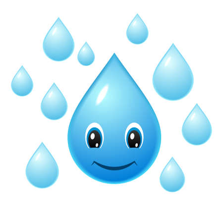 Smiling water droplet