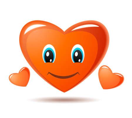 shapes cartoon: Sonriendo coraz�n