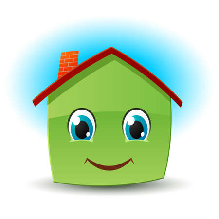house illustration: Smiling house Illustration