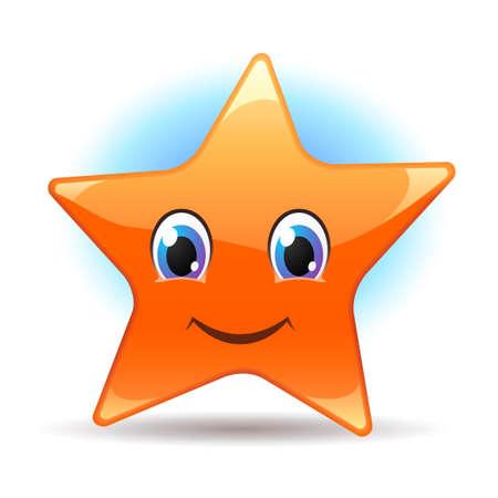 estrella caricatura: Estrella sonriente