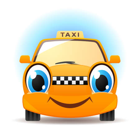Grappige taxi