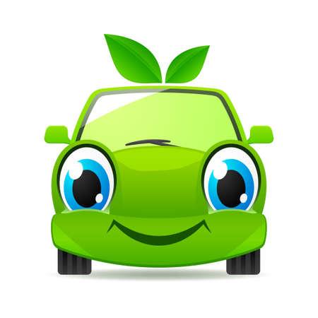 carro caricatura: Eco amigable coche