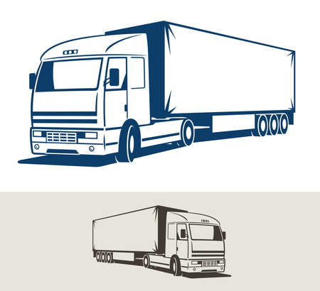 Truck with semitrailer