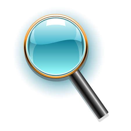glassy: Magnifier icon Illustration