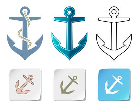 Anchor icons Stock Vector - 11084043