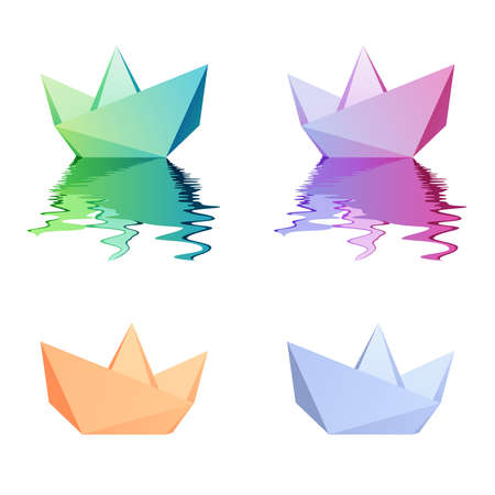 toy boat: Paper boat Illustration