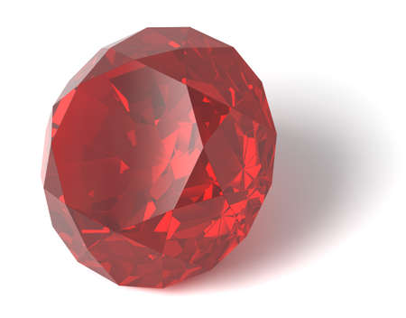 ruby gemstone: Ruby gemstone Stock Photo